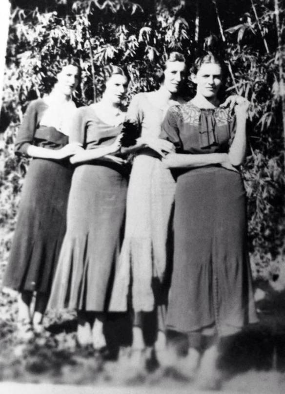 Da esquerda para a direita: Silvia, Leonor, Assumpta e Nair