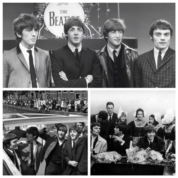 05-06-1964: Os Beatles, com Jimmy Nicol, se apresentam em um programa de TV ao vivo em Amsterdam, na Holanda.