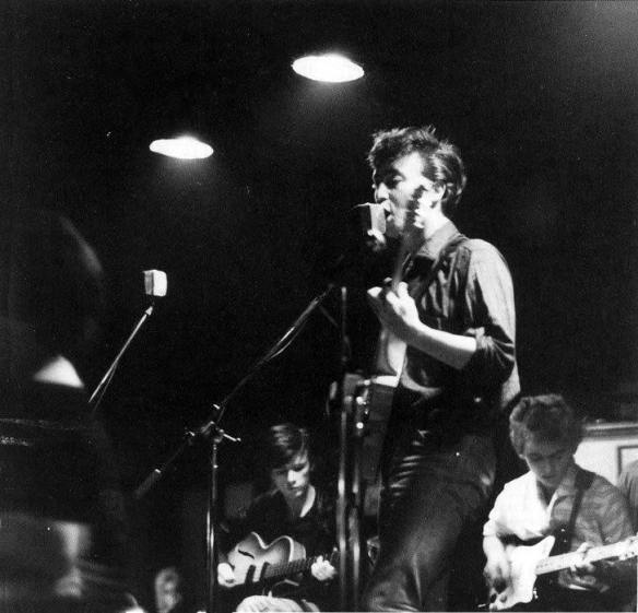 The beatles no palco do The Top Ten Club em Hamburgo - 1961