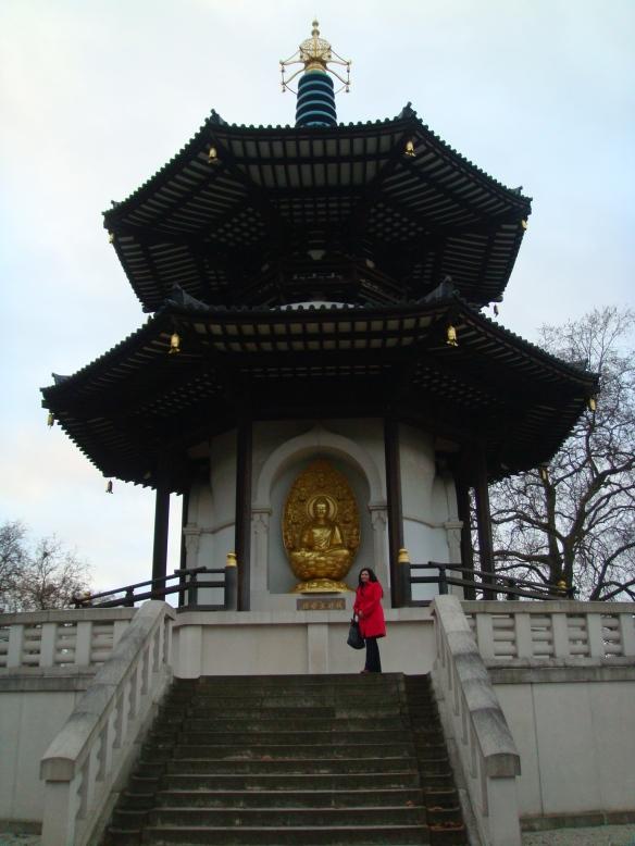 A estátua de Buda no Battersea Park