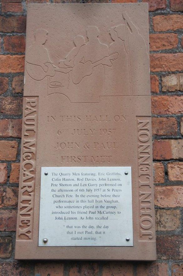 Woolton - placa encontro John e Paul