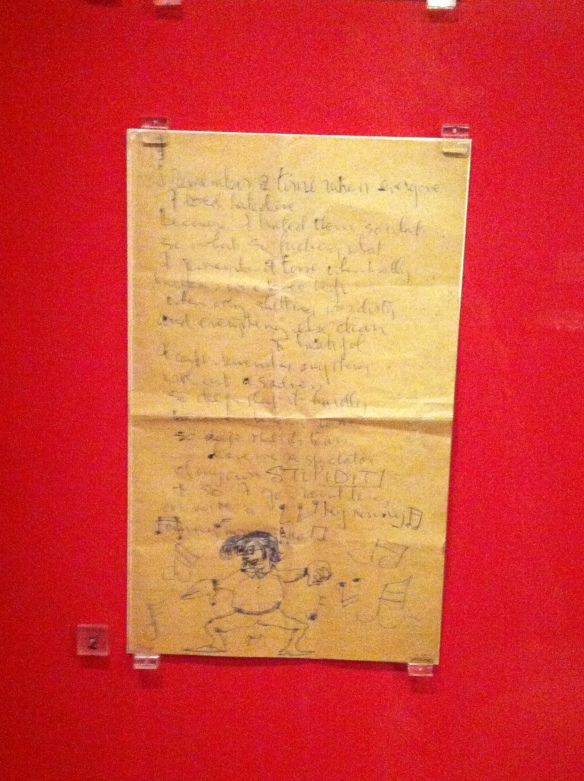 Manuscrito - Untitled verse by John Lennon