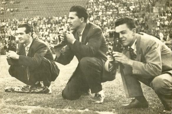 Aguillar e seus colegas 1953 repórteres fotograficos