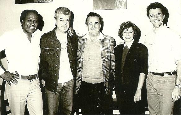 Aguillar com Carlos Gonzaga, Tony Campello, Cely Campello e Sérgio Murilo