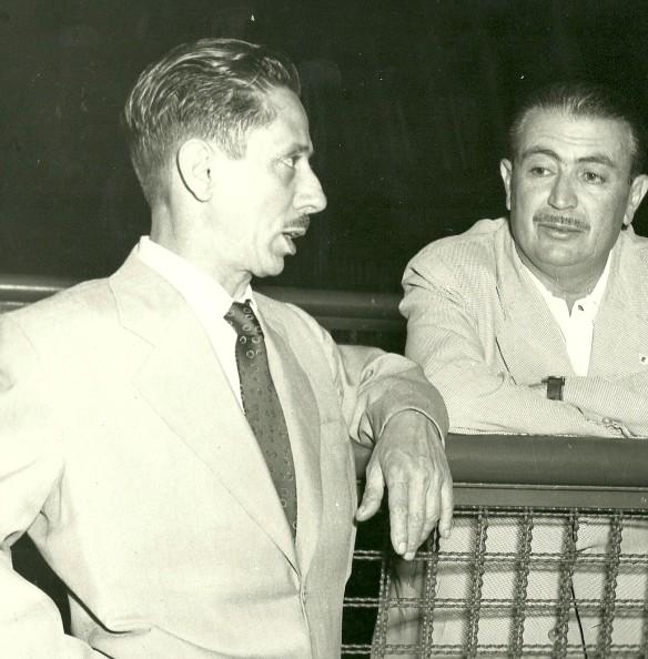 Chico Land e seu patrocinador - 1952