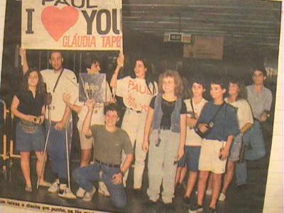 Faixa Cláudia Tapety no Show do Paul in Rio 1990