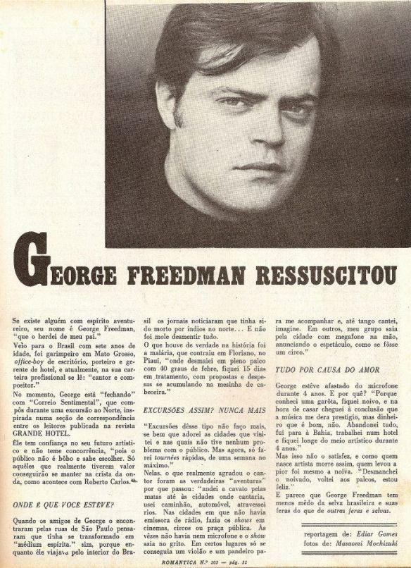 George Freedman ressuscitou