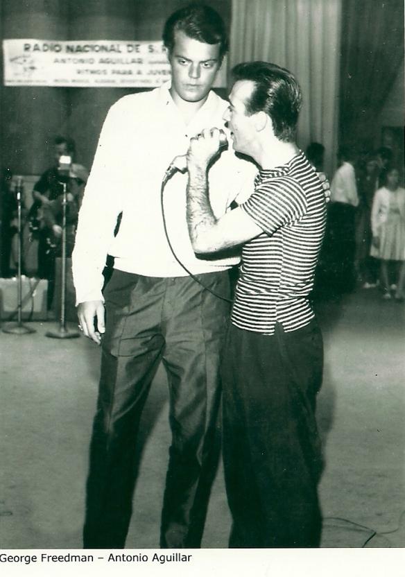 George Freedmn e Antonio Aguillar na TV Excelsior