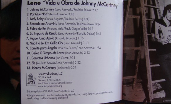 Vida e Obra de Johnny McCartney - Leno 017