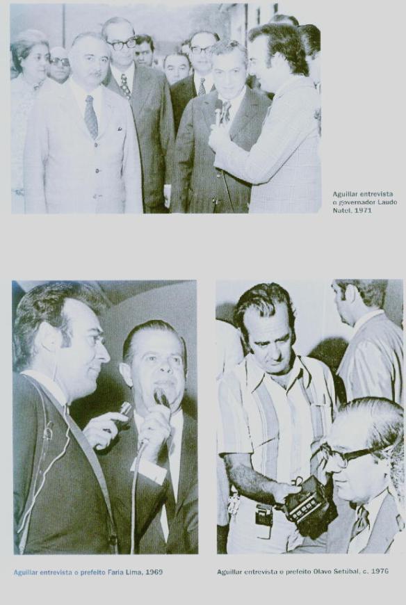 Aguillar com o  Governador Laudo Natel, prefeito Faria Lima e prefeito Olavo Setúbal