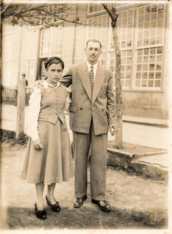 Antonio Pires Carneiro e sua filha  Dalzira