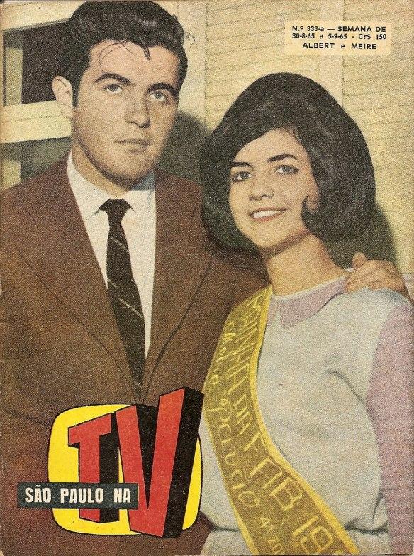 Capa da revista São Paulo na TV, de 1965, eu e Meire
