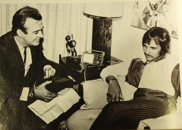 Aguillar e Roberto Carlos em 1968