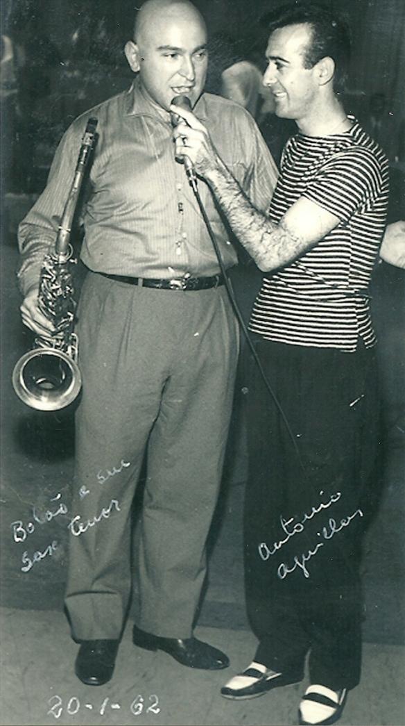Bolão professor de saxofone de todos os grupos musicais dos anos 60