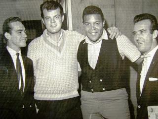 Chubby Checker com George Freedman,  Antonio Aguillar e um amigo de George em 1962