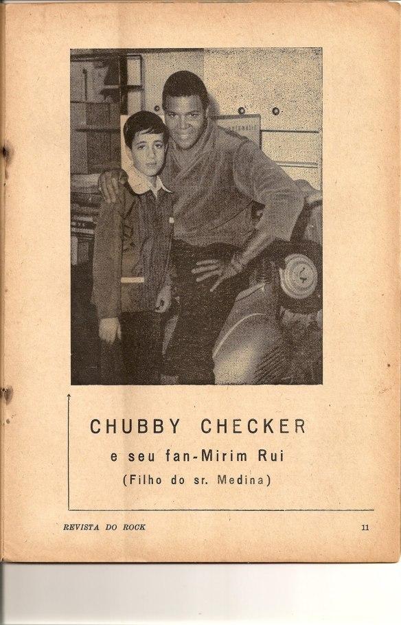 Chubby Checker com Ruben Medina (irmão de Roberto Medina)