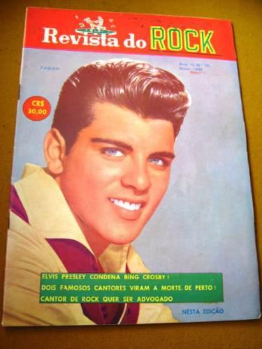 Revista Do Rock Rio-nº 10, de 1961, trazendo artigos sobre Ricky Nelson, Sedaka e Elvis Presley
