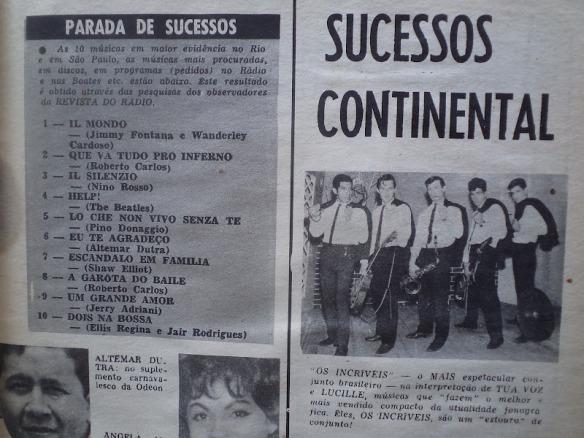 Revista - Sucessos Continental Os Incríveis