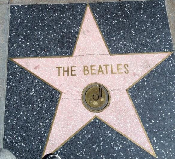 A estrela na calçada da fama