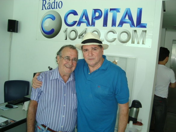 Antonio Aguillar e Jerry Adriani na Rádio Capital