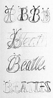 Estes foram os primeiros logos dos Beatles, feitos por Tex O´Hara, em 22 de janeiro de 1963.