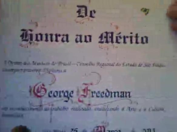 George Freedman recebe diploma de honra ao mérito (2)