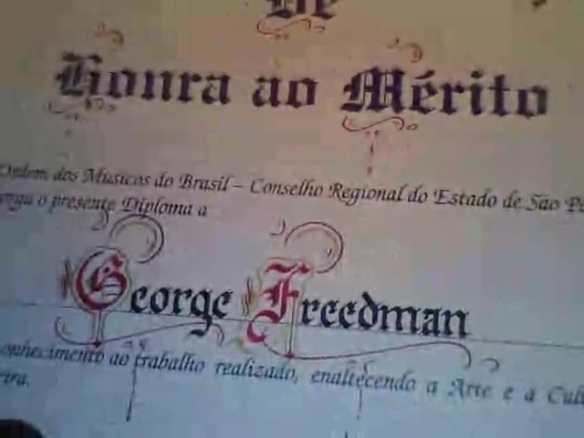George Freedman recebe diploma de honra ao mérito (5)