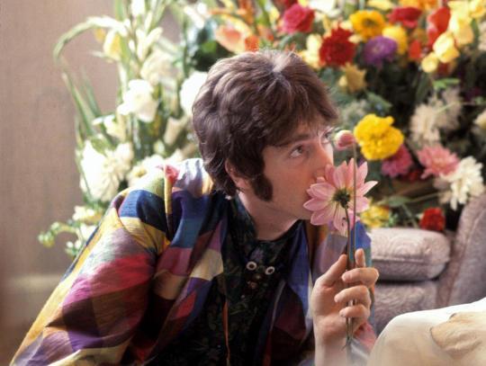John Lennon met Maharishi