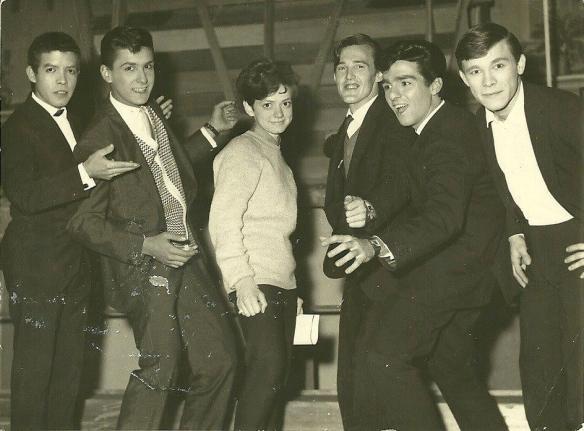 Neno, Netinho, Rita Pavone, Risonho, Mingo e Manito (Os Incríveis), que na época ainda eram The Clevers.