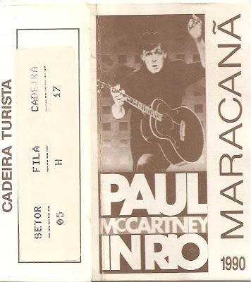 Um ingresso do Show de 1990