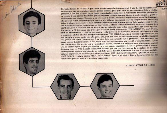 The Rebels vinil Carlos Alberto Guglielmelli Viglioni 2