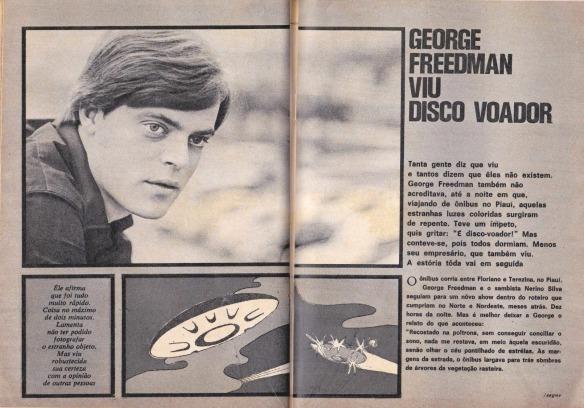 George Freedman viu um disco voador