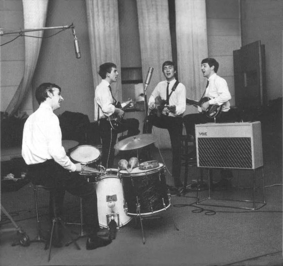 primeira apresentação de Ringo com os Beatles – fotos de Dezo Hoffmann 2
