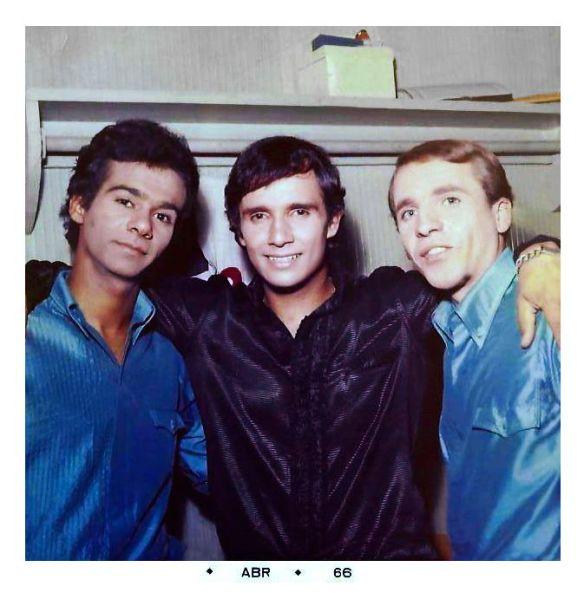 Dedé, Roberto Carlos e Brunno Pasqual. (foto do acervo de Brunno Pasqual)