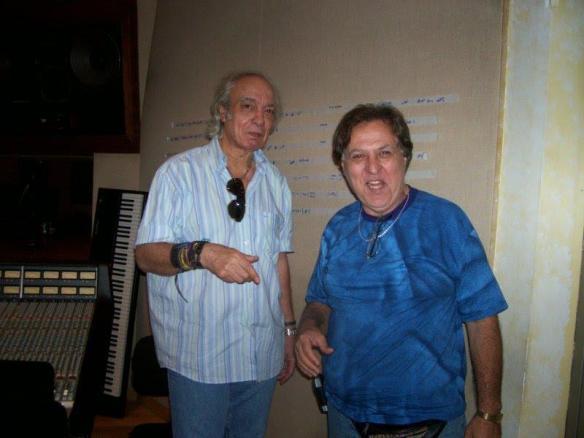 Paulo C'ésar  e Erasmo Carlos durante gravação do projeto  Erasmo Convida.
