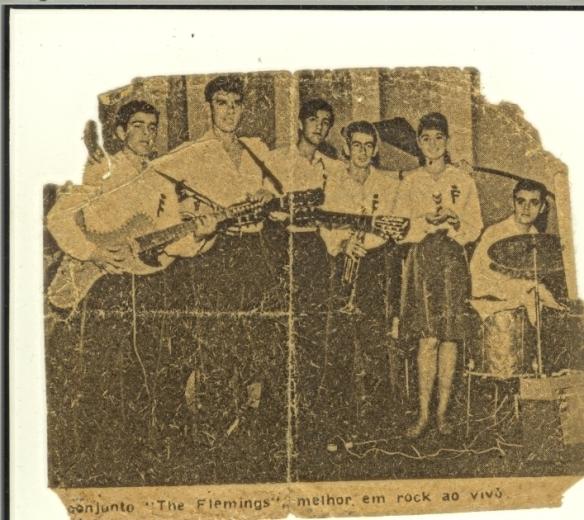 Foto dos Flemings na Rádio Mayrink Veiga, por Luiz Piston