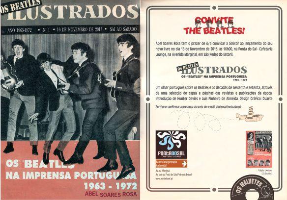 Livro Os Beatles Ilustrados - imprensa portuguesa