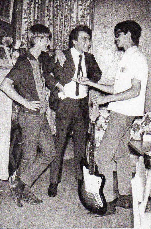 """""""Os Mísseis"""": Paulo Armando Venhofen (o Paulinho), Aérnio Penteado (o Z´r) e Davi Garcia Neto."""