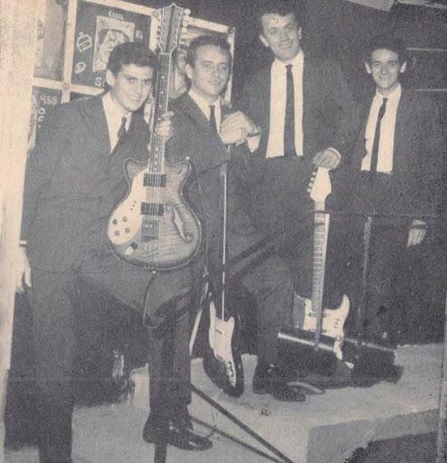 The Jet Blacks em 1964/66 - Serginho Canhoto, Zé Paulo, Gato e Jurandi