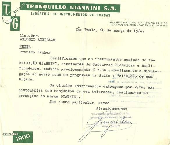 Giannini entrega carta para Aguillar sobre divulgação dos instrumentos