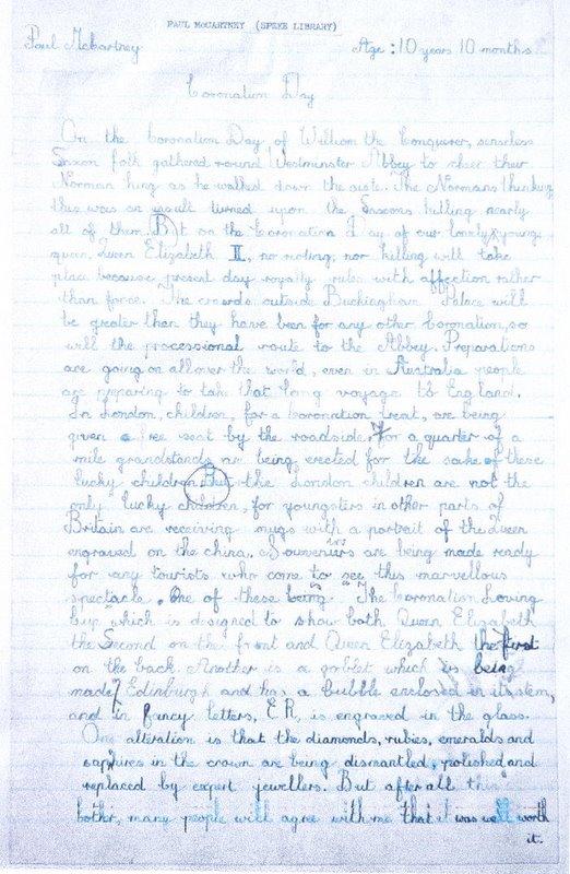 Redação escrita por Paul McCartney