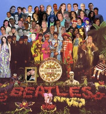 Montagem feita por Alessandra Mota usando os rostos dos membros do grupo We Love the Beatles Forever.
