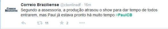Atraso show Brasília