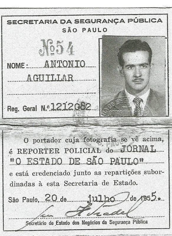 Antonio Aguillar - carteira de repórter