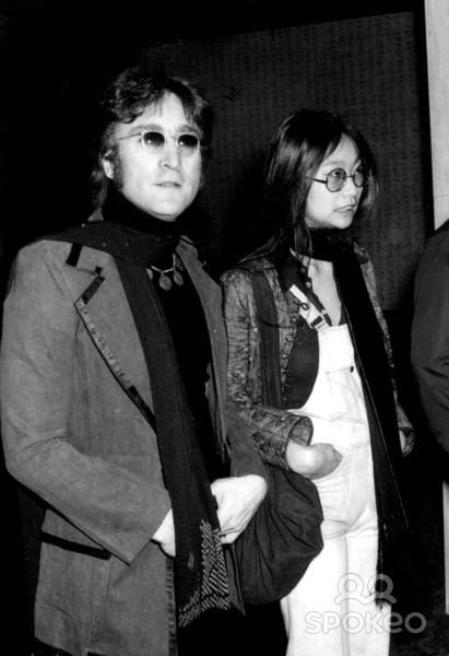 John Lennon e May Pang - 24-03-1974