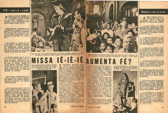 Pequena matéria dos Brazilian Bitles publicada em 1966 na Revista Clube Tv-Rádio do Rio de Janeiro. 1