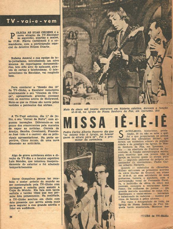 Pequena matéria dos Brazilian Bitles publicada em 1966 na Revista Clube Tv-Rádio do Rio de Janeiro. 2