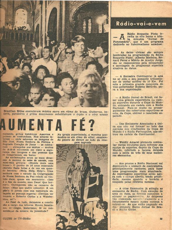Pequena matéria dos Brazilian Bitles publicada em 1966 na Revista Clube Tv-Rádio do Rio de Janeiro. 3