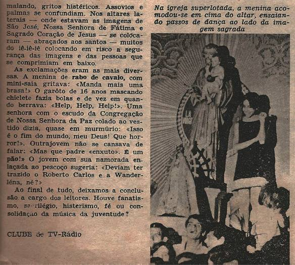 Pequena matéria dos Brazilian Bitles publicada em 1966 na Revista Clube Tv-Rádio do Rio de Janeiro. 8