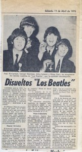 Notícia de 10 de abril de 1970